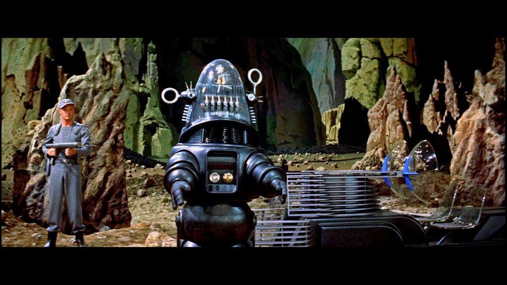 """Il robot de """"Il Pianeta Proibito"""", nel 1956.È uno dei modelli estetici della fantascienza di Fallout."""