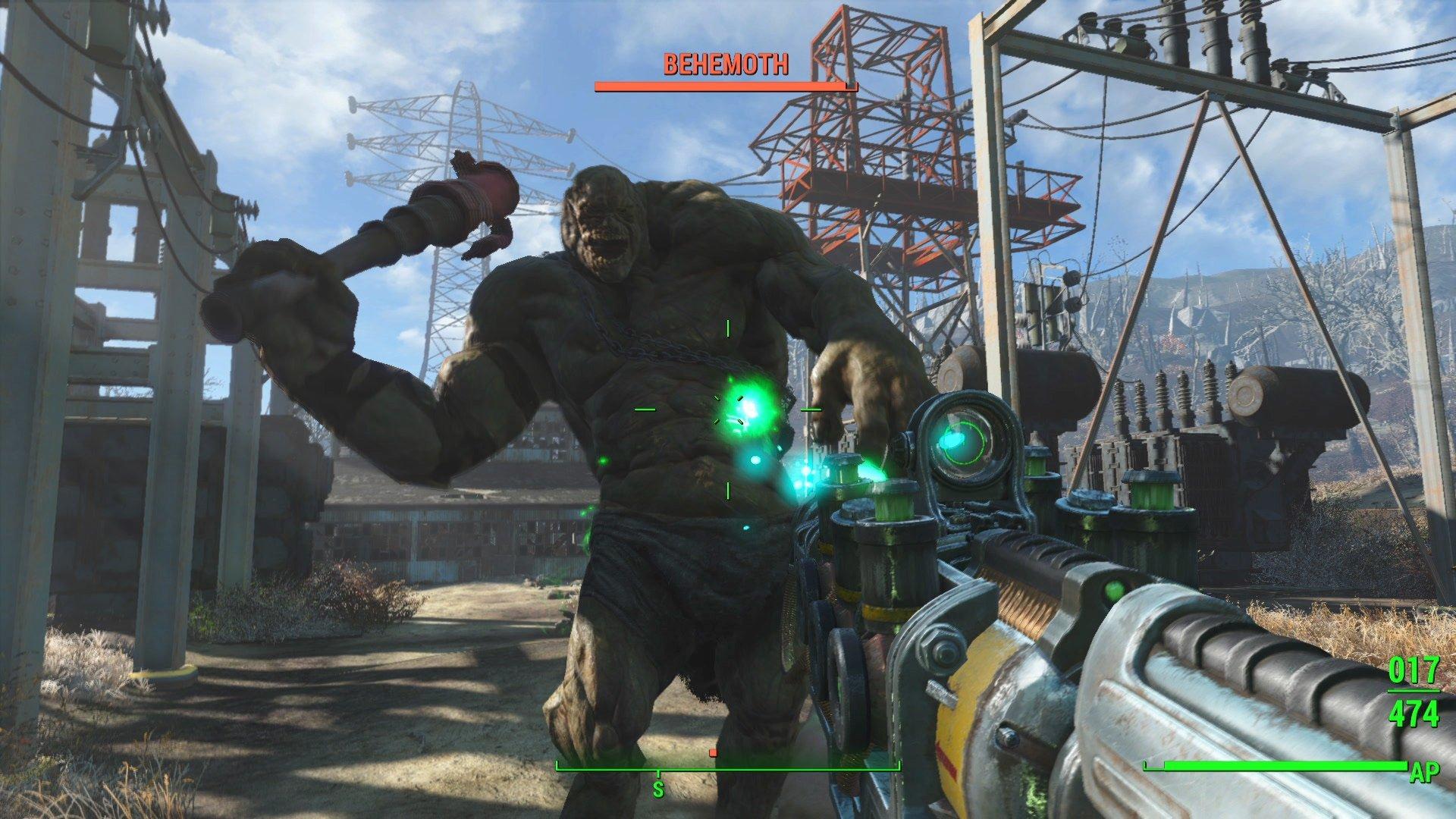 Il Behemoth torna anche in Fallout 4. Nel suo caso il revamp grafico è più che evidente.