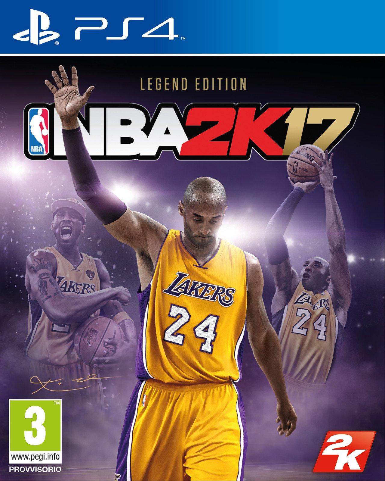 NBA 2K17: Kobe Bryant sarà l'uomo copertina della Legend Edition