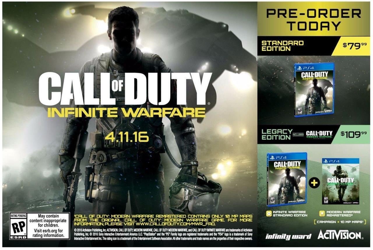 Call of Duty Infinite Warfare: trapelano data, edizioni e prezzi