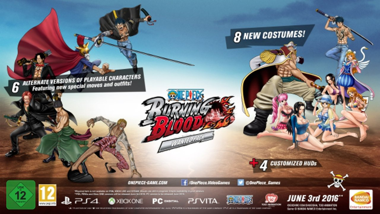 One Piece Burning Blood: svelati i bonus di pre-order