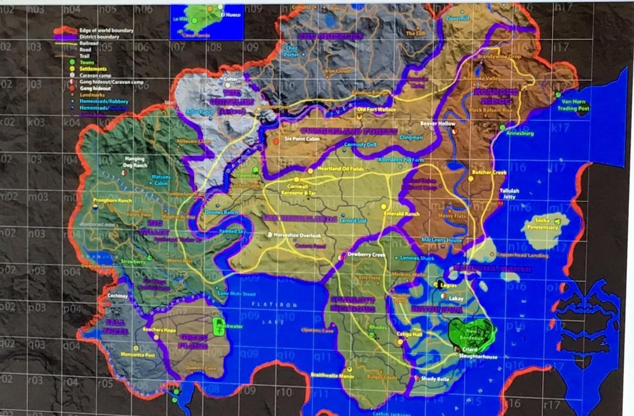 Red Dead Redemption 2: trapelata una possibile mappa di gioco