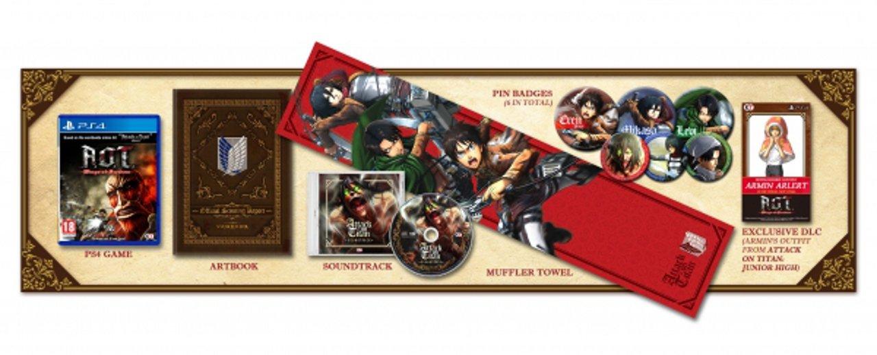 Attack on Titan: bonus di pre-order e Treasure Box per l'Europa