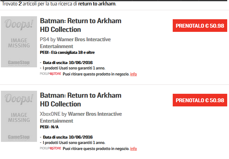 Batman Return to Arkham HD Collection