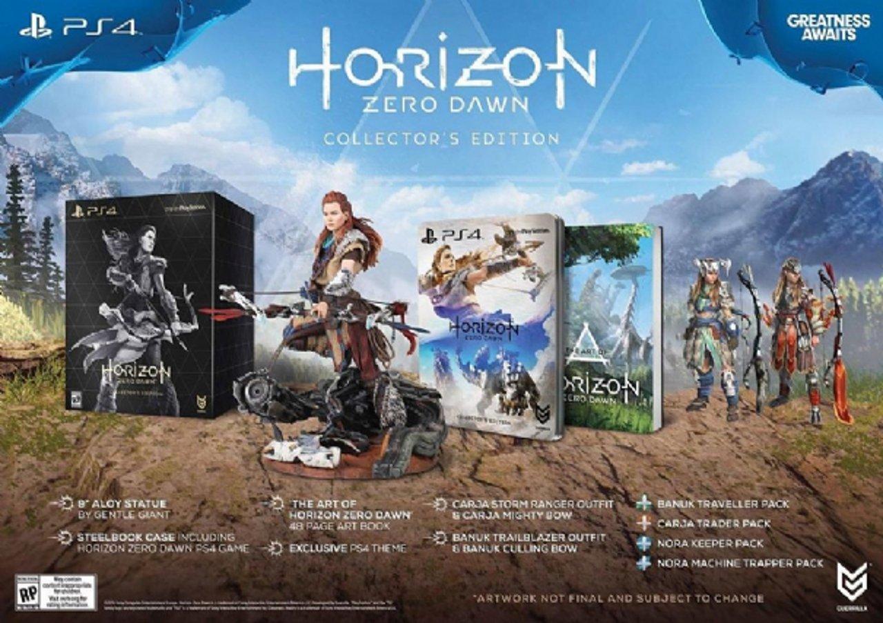 Horizon Zero Dawn: svelata la Collector's Edition