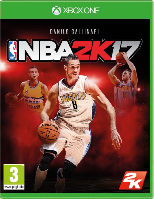 NBA 2K17 Danilo Gallinari cover