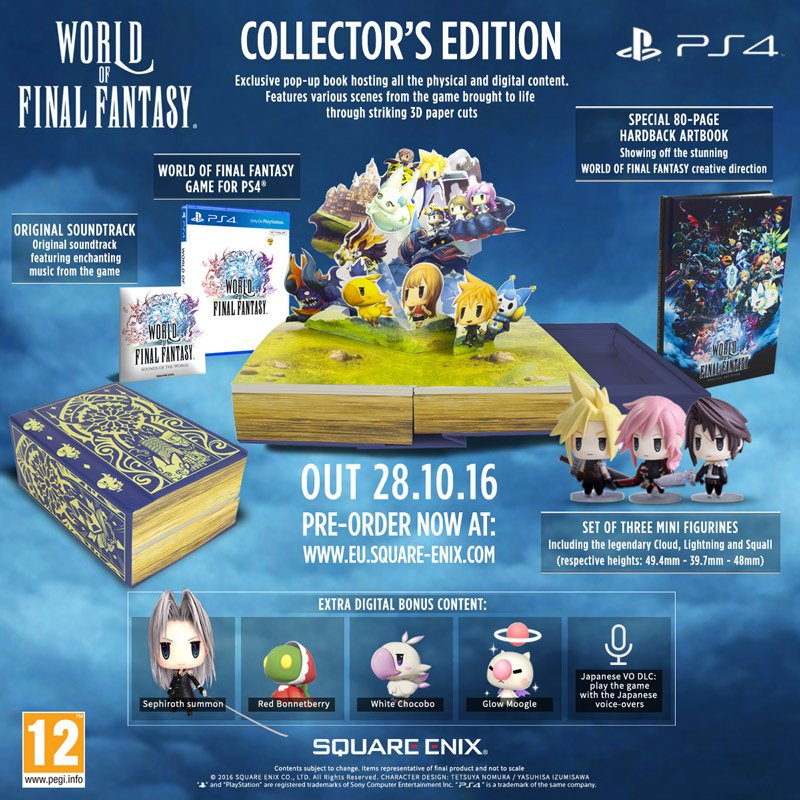 World of Final Fantasy Collector's Edition PS4