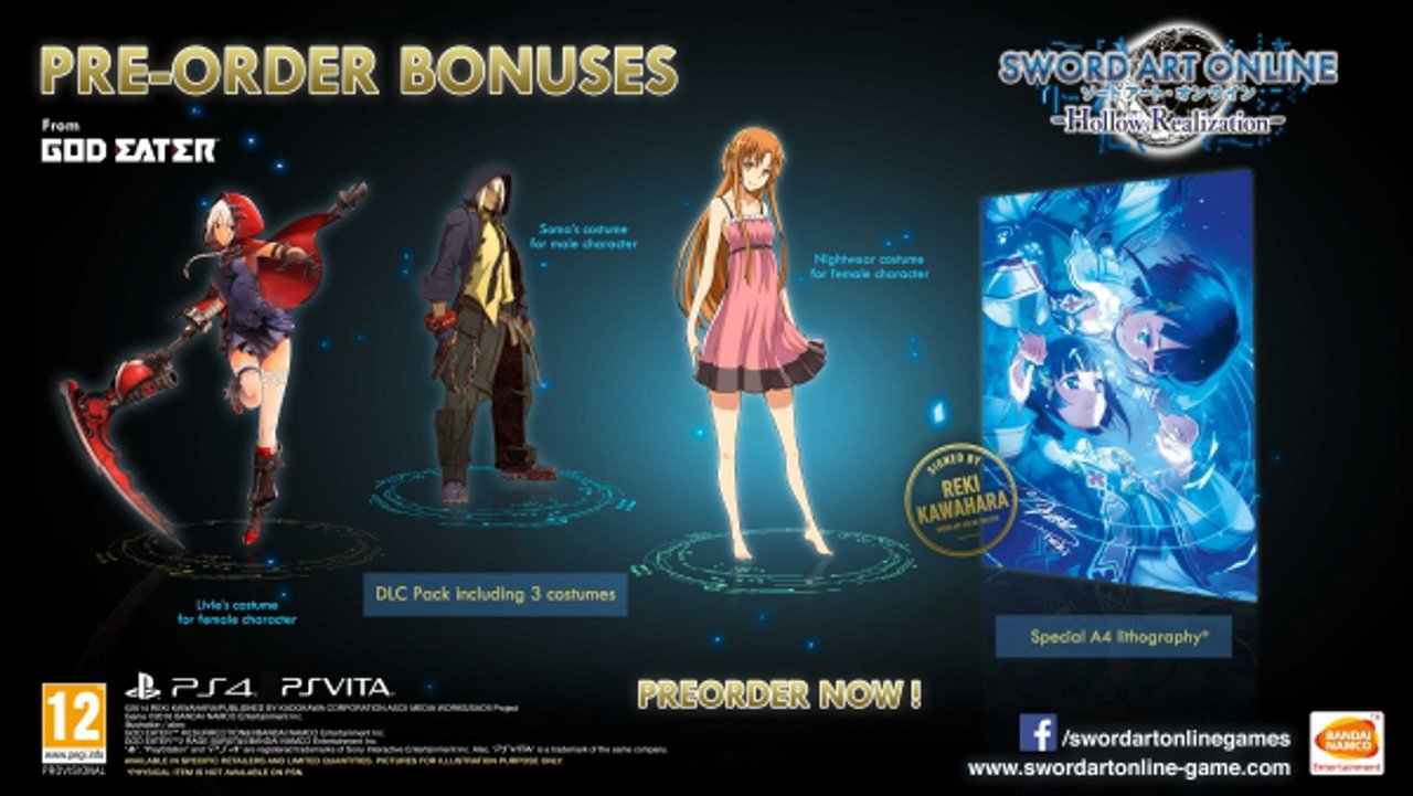 Sword Art Online Hollow Realization ha una data d'uscita europea