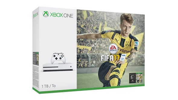 Xbox One S bundle fifa 17 cover