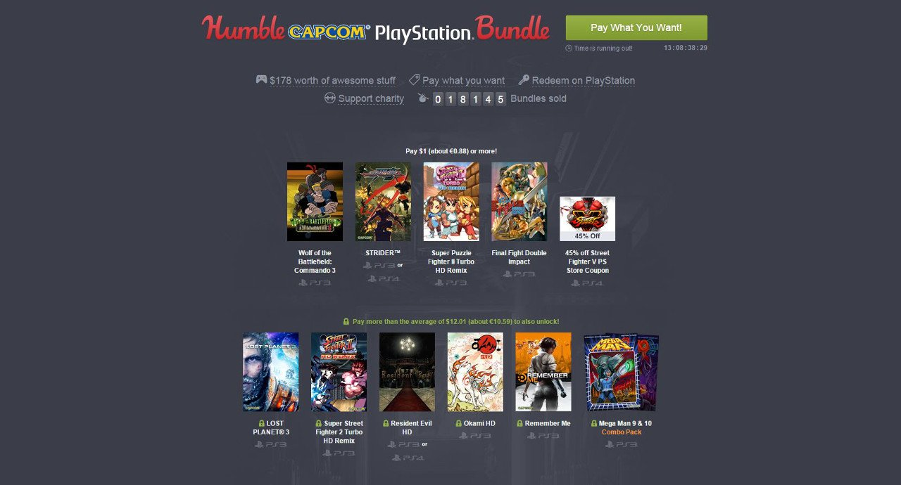 Humble Capcom PlayStation Bundle: tanti classici Capcom per pochi euro