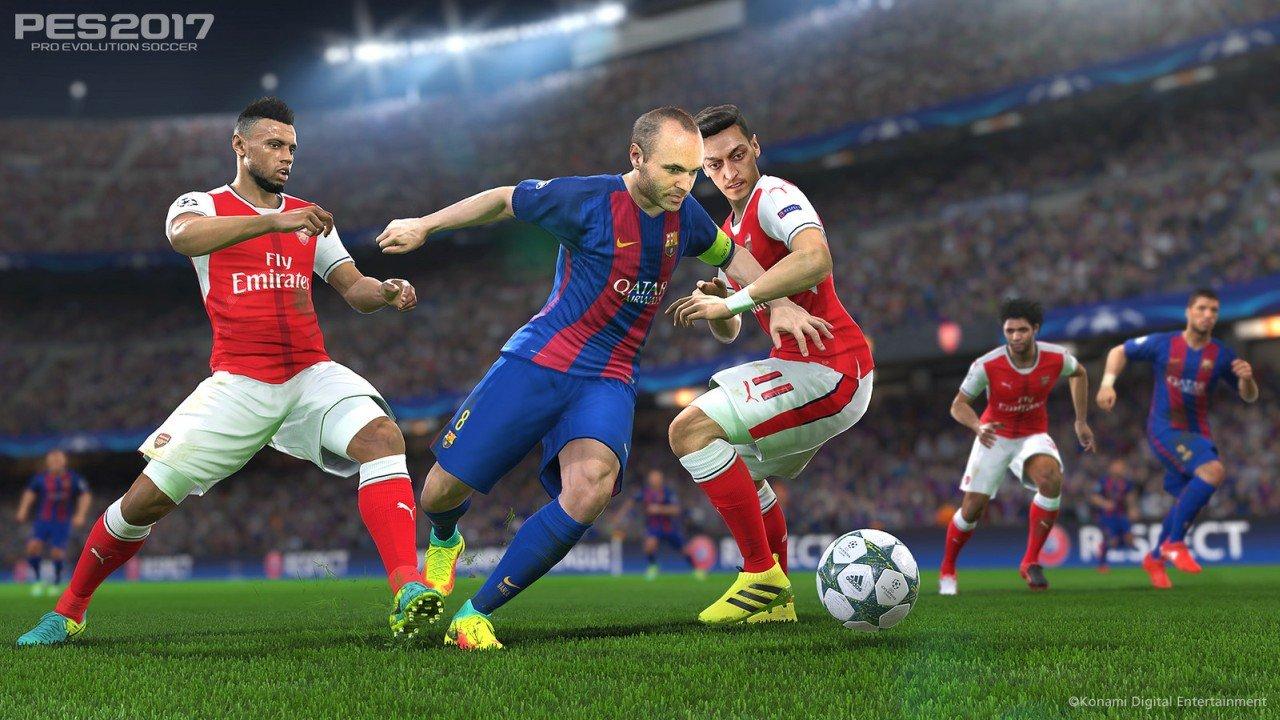 PES 2017: confermato il supporto a PS4 Pro, annunciati due nuovi update