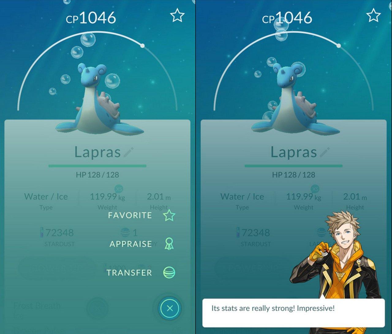 Pokémon GO: l'ultimo update ci permette di controllare le statistiche