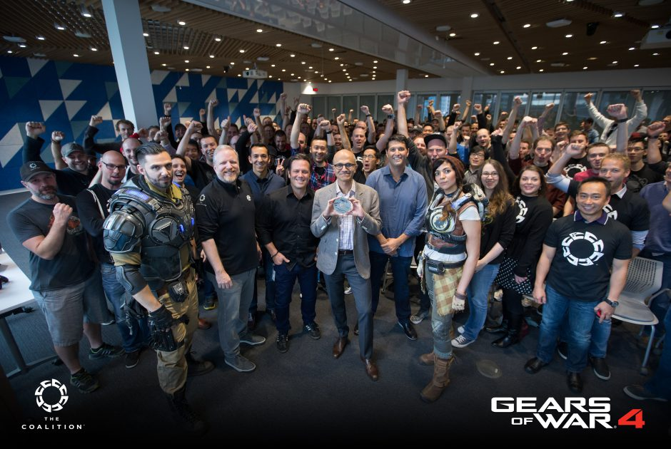 Gears of War 4 gold phil spencer satya nadella