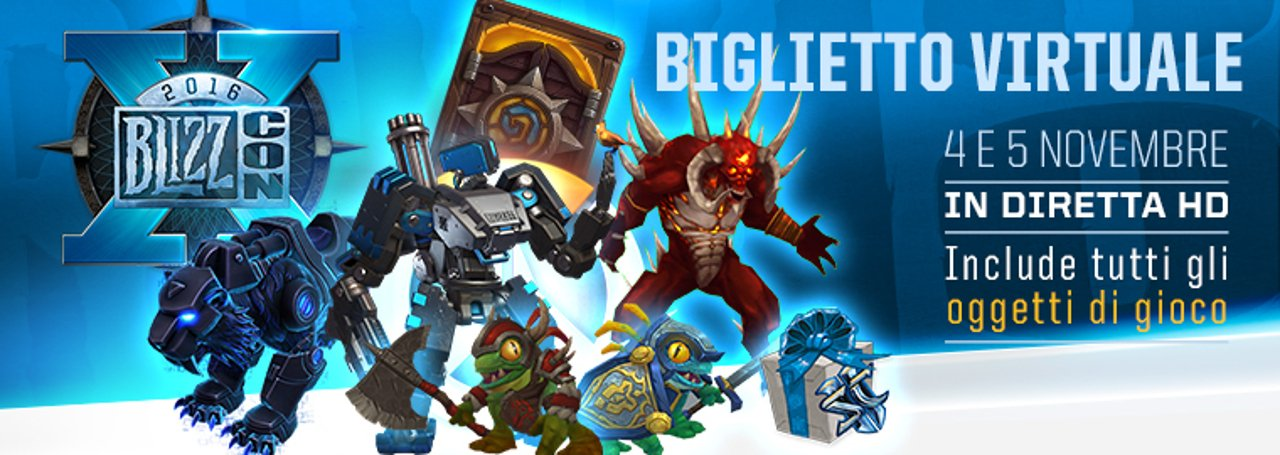 BlizzCon 2016: ecco i bonus in-game per chi parteciperà allo show