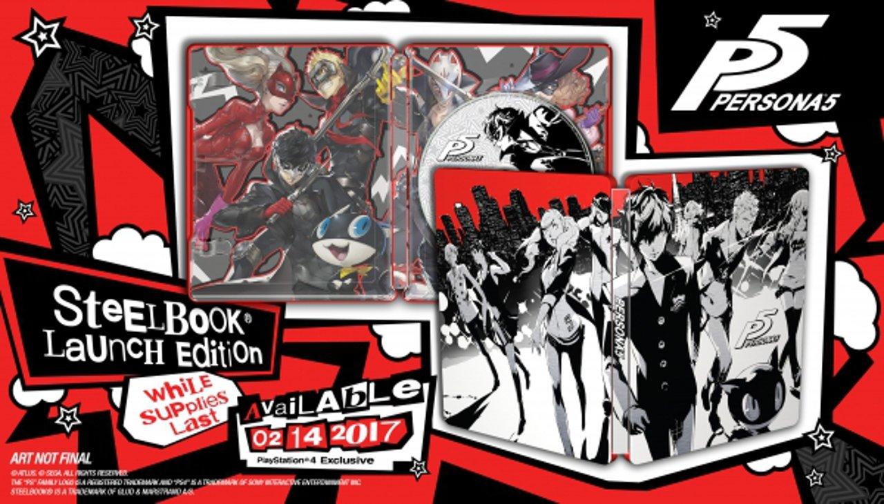 Persona 5: rivelato il design della SteelBook Launch Edition
