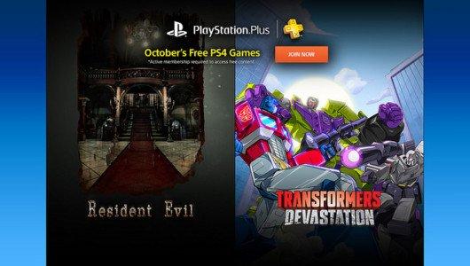 PlayStation Plus: Resident Evil e Transformers Devastation ad ottobre
