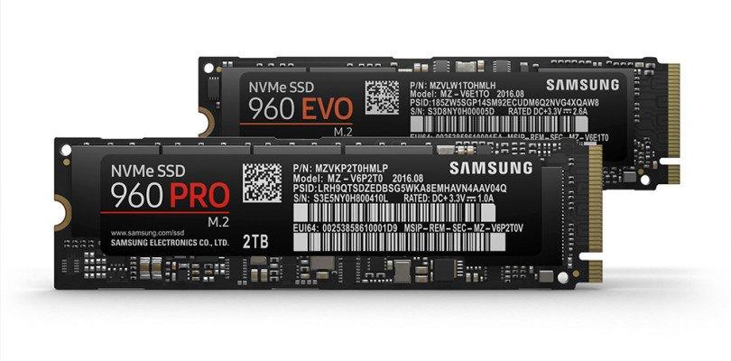 Nuovi dischi Samsung SSD 960 PRO ed EVO