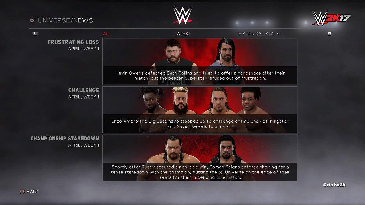 "WWE 2K17: svelata la modalità ""Universe Mode"""