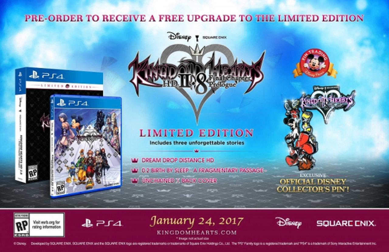 Kingdom Hearts HD 2.8: svelata la Limited Edition