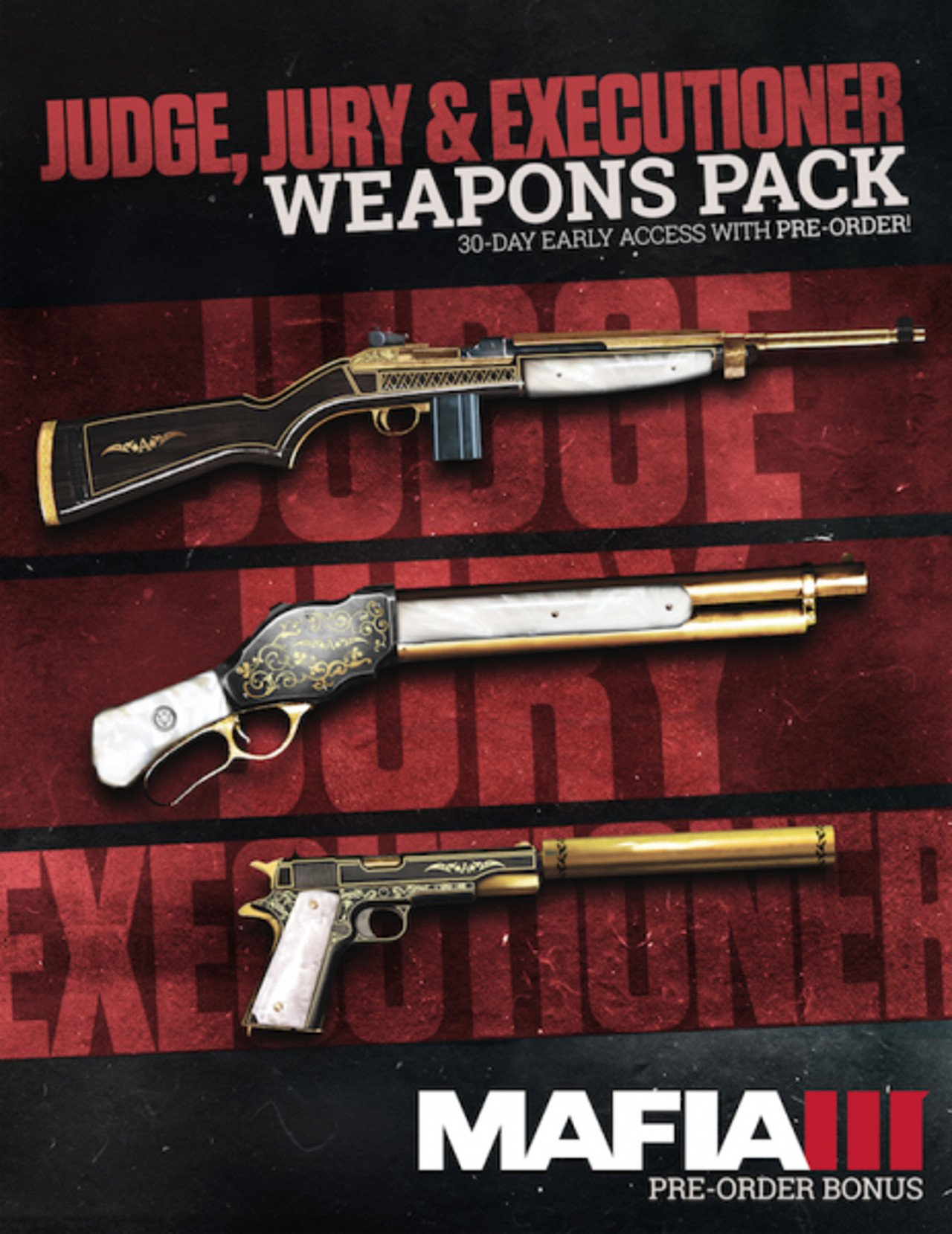 """Mafia III: disponibile per tutti il Weapon Pack """"Gudice, Giuria, e Esecutore"""""""