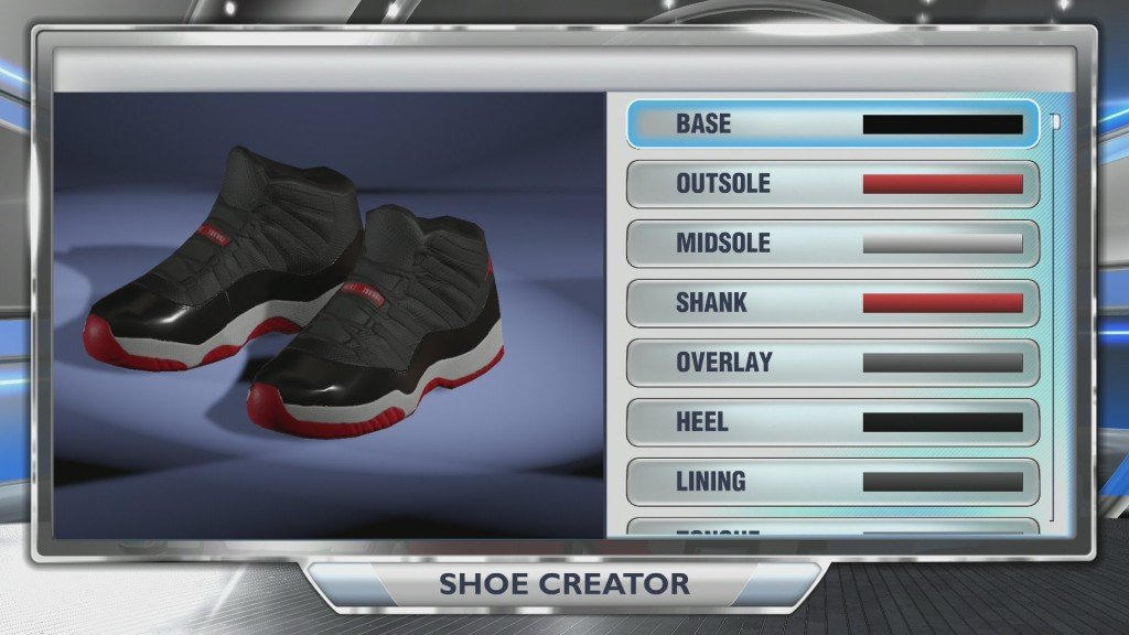 NBA 2K shoe creator