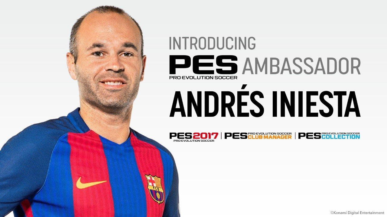 Konami ha annunciato che Iniesta è l'ambasciatore ufficiale di PES