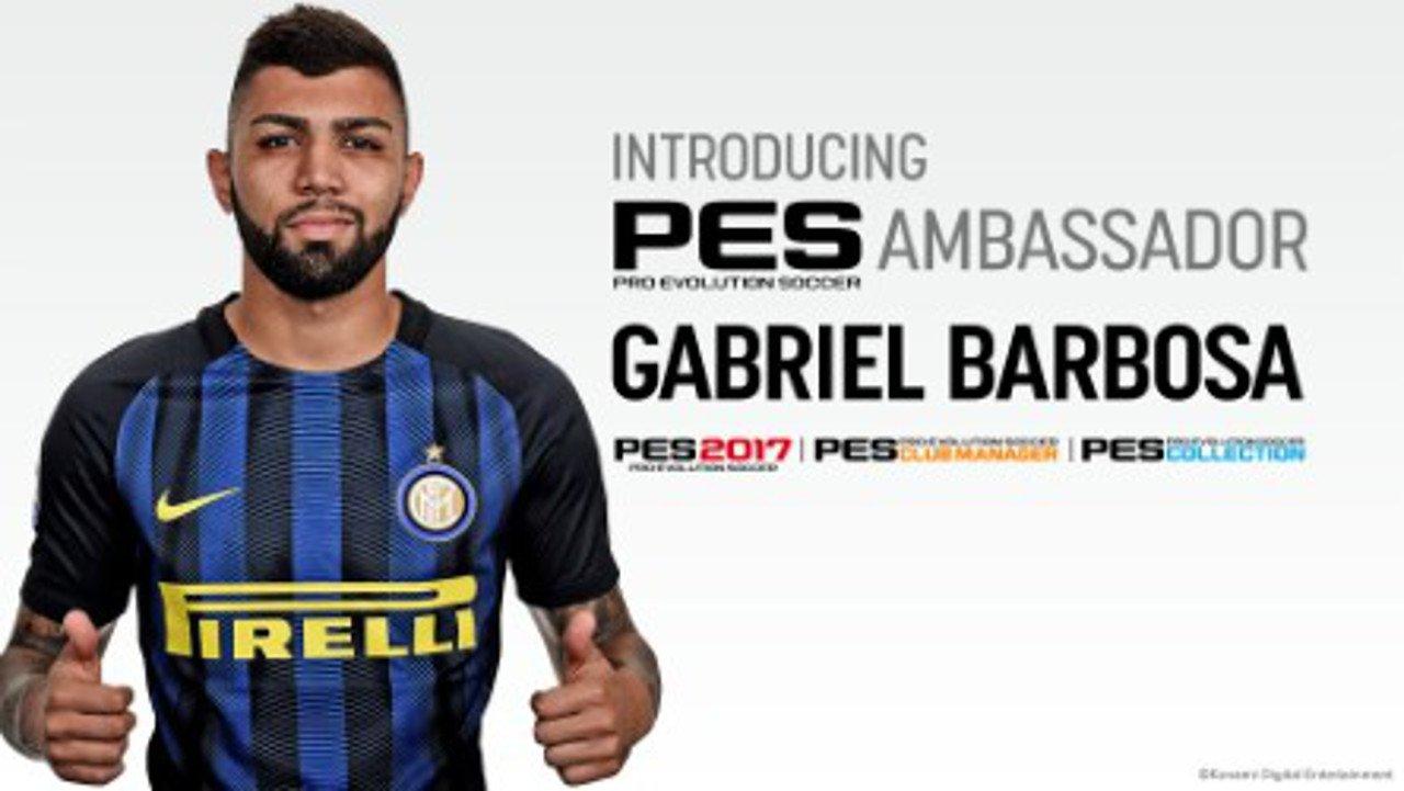 "PES 2017: Gabriel ""Gabigol"" Barbosa è un nuovo PES Ambassador"