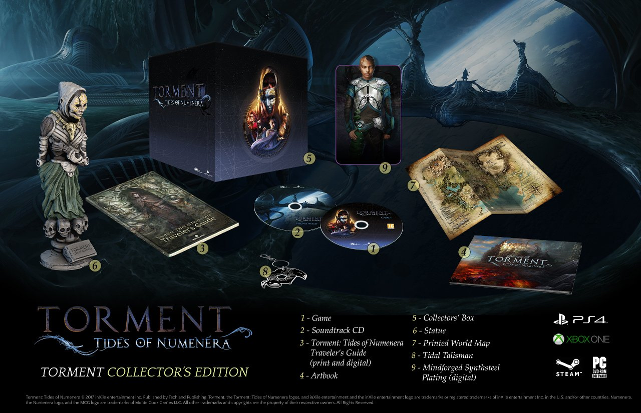 Torment Tides of Numenera: svelate le edizioni Collector e Day One