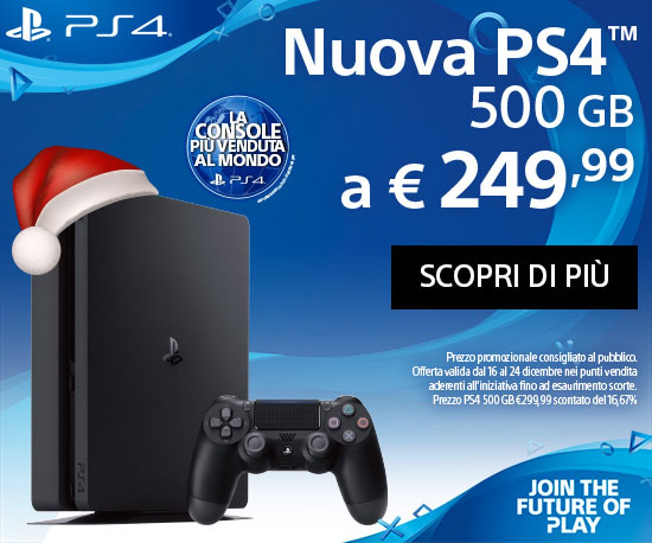 PlayStation 4 Slim 500 GB è in offerta a 249,99 €