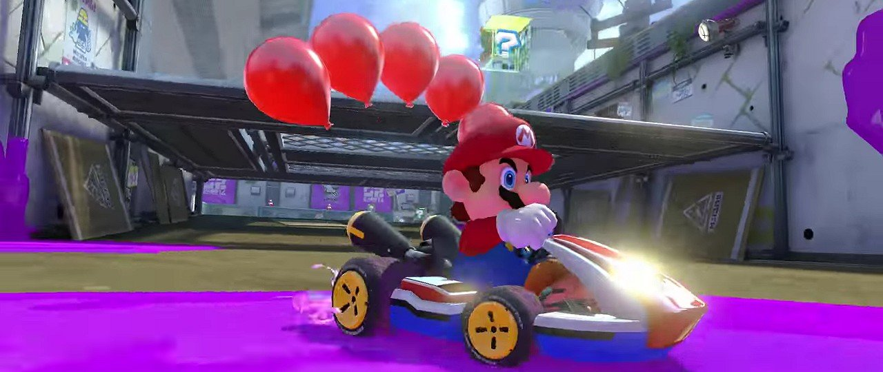 Mario Kart 8 Deluxe trailer feature