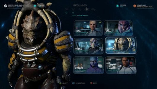"""Mass Effect Andromeda: pubblicato il gameplay """"Characters"""""""