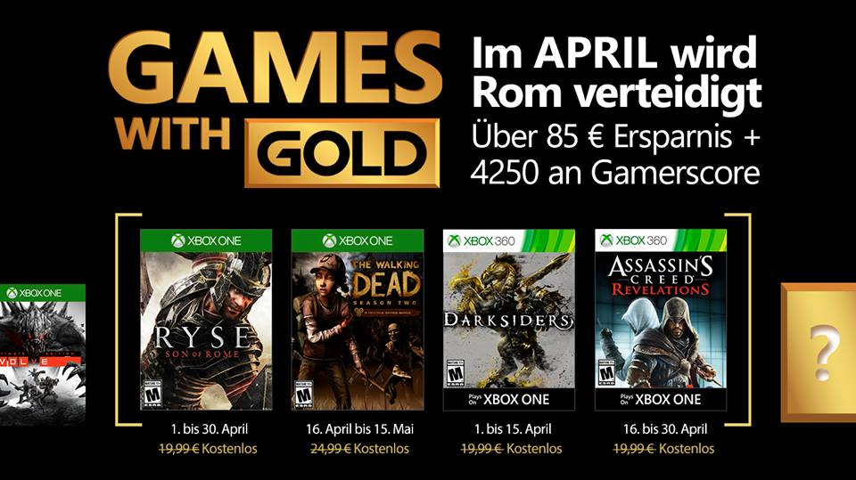 Games with gold aprile 2017