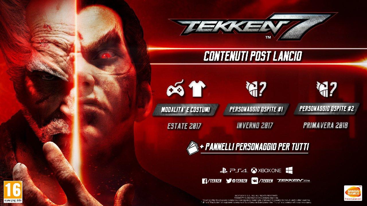 Tekken 7: svelati i contenuti post lancio