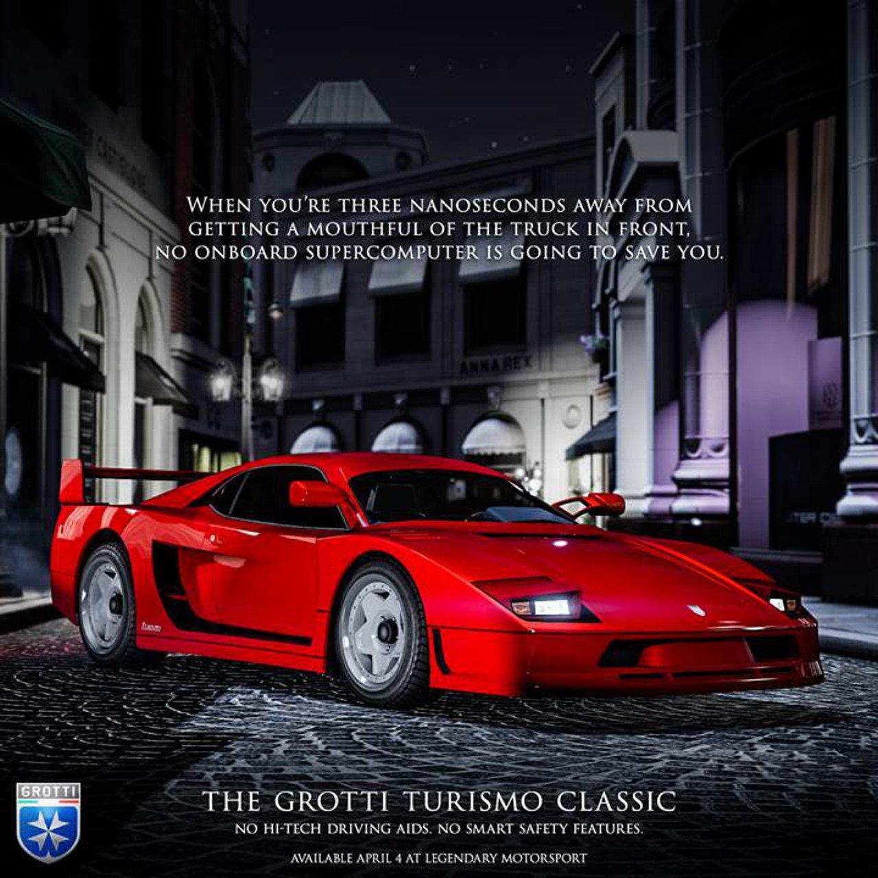 GTA Online: disponibile da oggi la Grotti Turismo Classic
