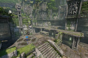 Quake Champions: svelata in video l'arena Ruins of Sarnath