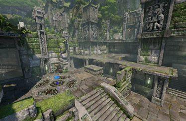 Quake Champions: svelata in video l'arena Ruins of Sarnath
