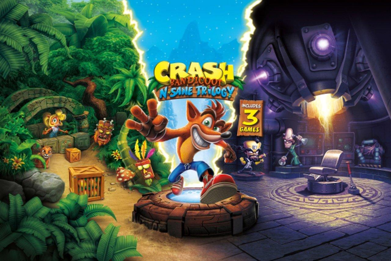 Crash Bandicoot N. Sane Trilogy: svelata la key art del gioco
