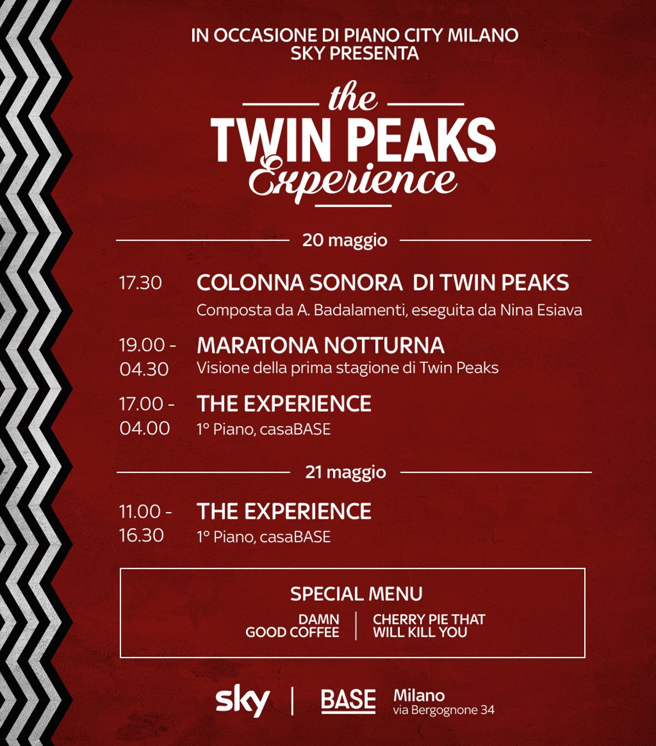 "Sky presenta a Milano la ""Twin Peaks Experience"""