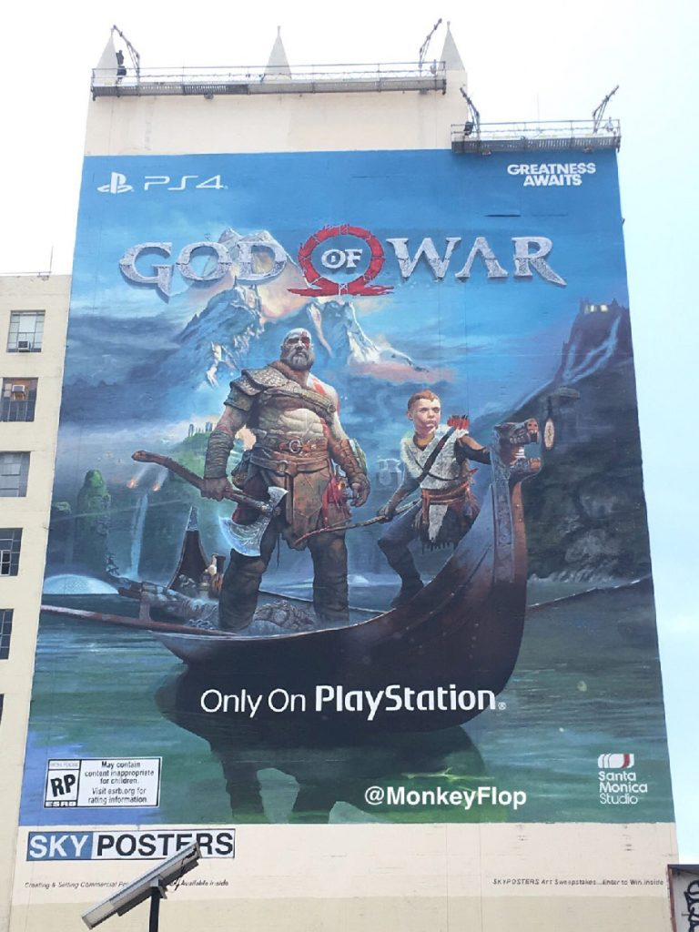 God of War poster e3 2017 sony