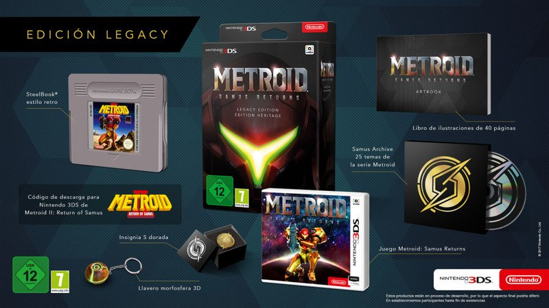 Metroid Samus Returns Collector's Edition europea