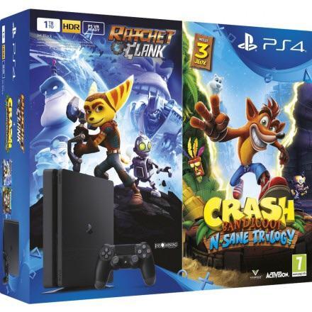 PlayStation 4 Bundle Crash bandicoot n sane trilogy ratchet & clank