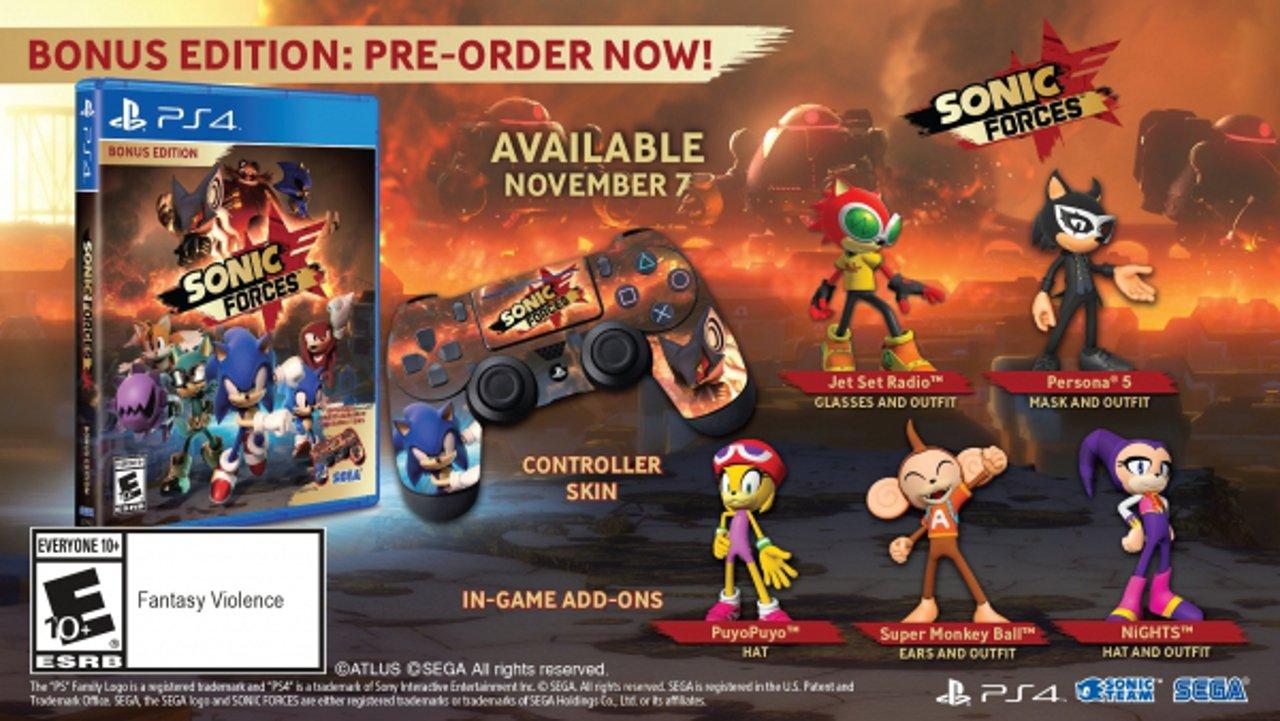 Sonic Forces ha una data d'uscita occidentale, annunciata la Bonus Edition