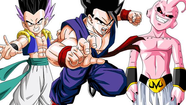 Dragon Ball FighterZ Gotenks Kid Buu Gohan adulto