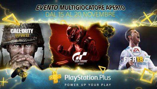 Sony annuncia l'evento Open Multiplayer di PlayStation Plus