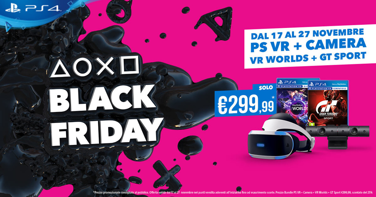 Sony annuncia gli sconti del Black Friday di PlayStation