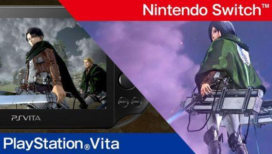 Attack on Titan 2: due nuovi trailer mostrano le versioni Switch e PS Vita