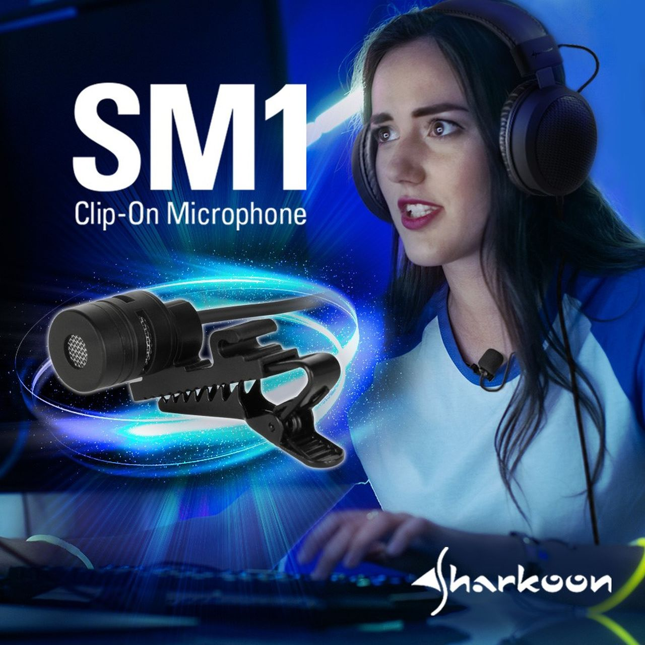 Sharkoon annuncia il microfono clip on per cuffie SM1