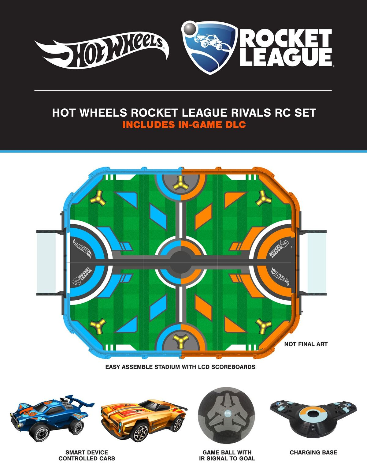 Psyonix e Hot Wheels annunciano il Rocket League RC Toy Set, un set di macchinine radiocomandate