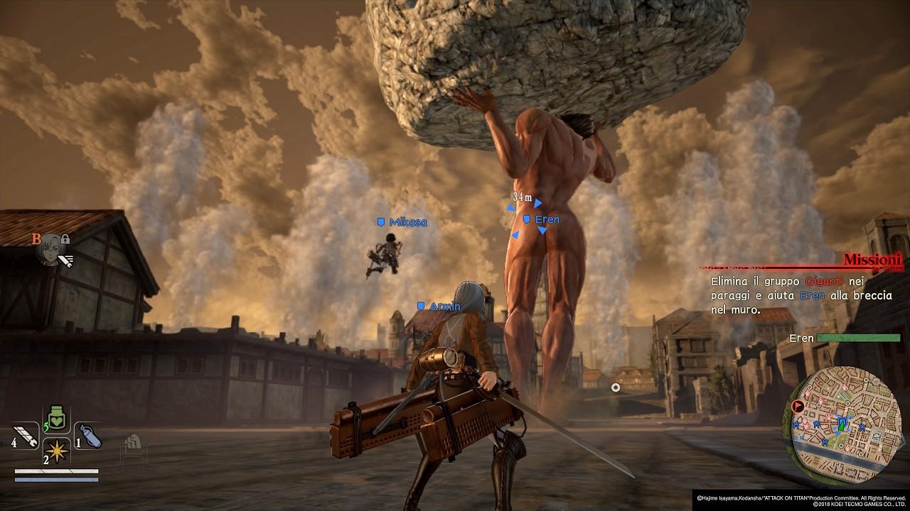 Attack on Titan 2 immagine PC PS4 Switch Xbox One 15