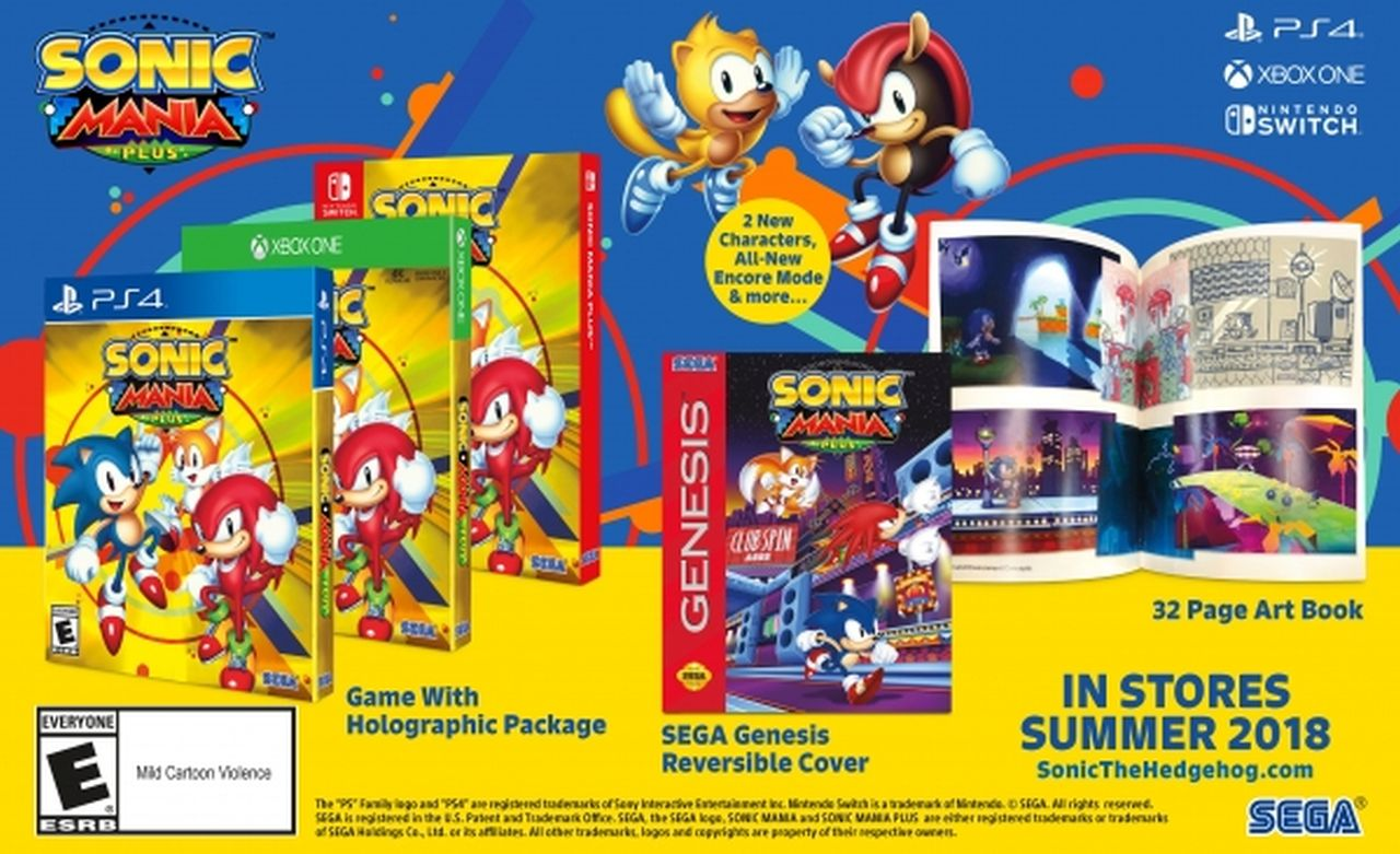 Sonic Mania Plus annunciato per PC, PS4, Xbox One e Switch